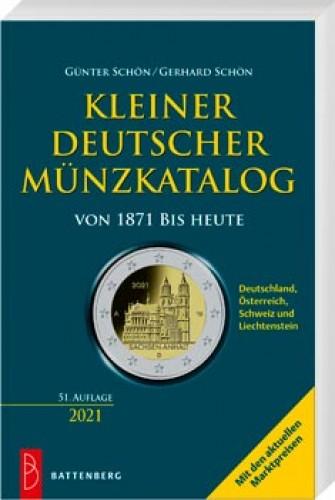 Kleiner deutscher Münzkatalog von 1871 bis heute 2021