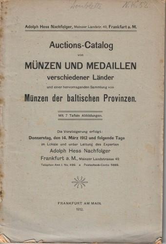 Münzen und medaillenv erschiedener Länder - Münzen der baltischen Provinzen