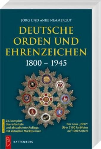 Deutsche Orden und Ehrenzeichen (OEK) 1800 - 1945
