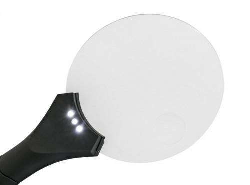 Randlose LED-Leuchtlupe, Vergrösserung 2,5X / 4X