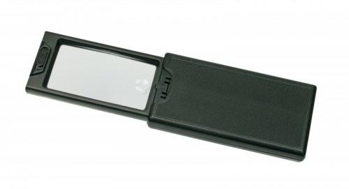 LED Taschenlupe mit einschiebbarer Linse