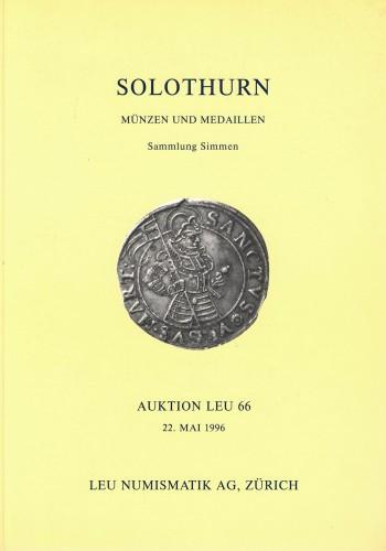 Solothurn - Münzen und Medaillen - Sammlung Simmen (antiquarisch)