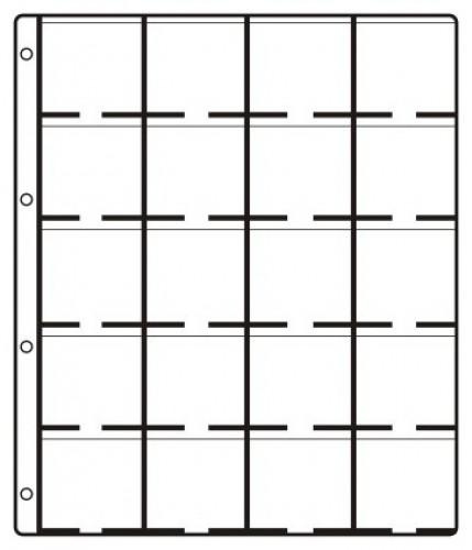 grosse Münzenblätter für 20 Rähmchen (50x50) Standard