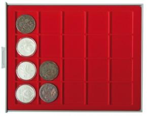 Münzenbox (quadratische Vertiefungen) 47 mm Ø