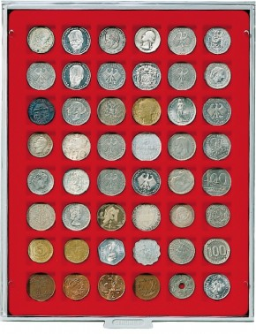 Münzenbox (quadratische Vertiefungen) 28 mm Ø