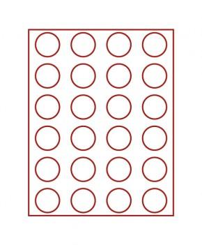Münzenbox (runde Vertiefungen) 41 mm Ø