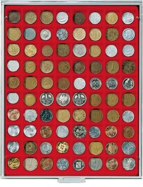 Münzenbox (quadratische Vertiefungen) 24 mm Ø