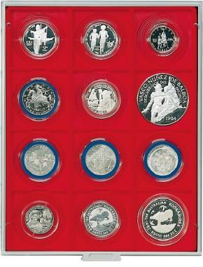 Münzenbox (quadratische Vertiefungen) 68 mm Ø