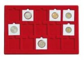 Münzenkoffer mit 5 Münztableaus für Münzrähmchen