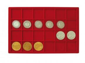 Münztableau für 24 Münzen bis 45 mm Durchmesser