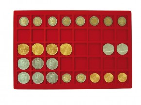 Münztableau für 40 Münzen bis 34 mm Durchmesser