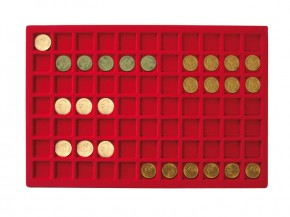 Münztableau für 77 Münzen bis 24 mm Durchmesser