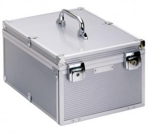 grosser Koffer aus Aluminium für Münzenboxen