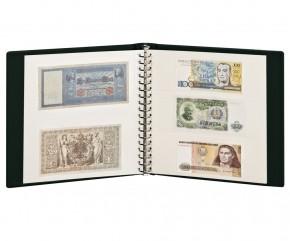 Banknotenalbum mit 10 Klarischthüllen und weissen Zwischenblättern