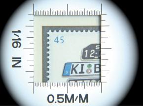 LED-Aufsetzleuchtlupe Alu für Münzen