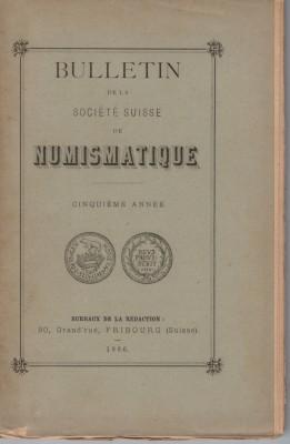 Bulletin Société Suisse de Numismatique 1886 (antiquarisch)