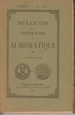 Bulletin Société Suisse de Numismatique 1888 (antiquarisch)