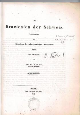 Die Bracteaten der Schweiz (antiquarisch)