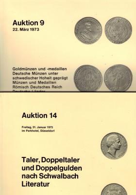 Auktionskataloge - Auktion 9 und 14 Galerie des Monnaies GmbH Düsseldorf