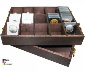 Holzbox für Münzrähmchen