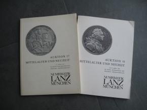 Auktionskataloge Lanz Numismatik München