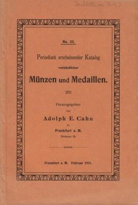 Katalog verkäuflicher Münzen und Medaillen (antiquarisch)
