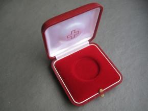 Münzetui Schweiz, rot, 3 Stück