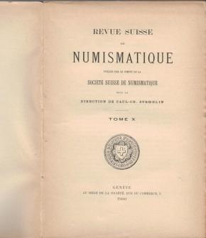Revue Suisse de Numismatique 1900 (antiquarisch)