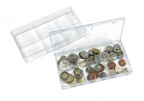Sammelbox transparent mit 6 Fächern